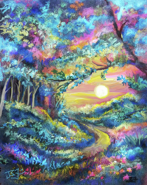 Digital Art - Forest Sun Rising by Jean Batzell Fitzgerald