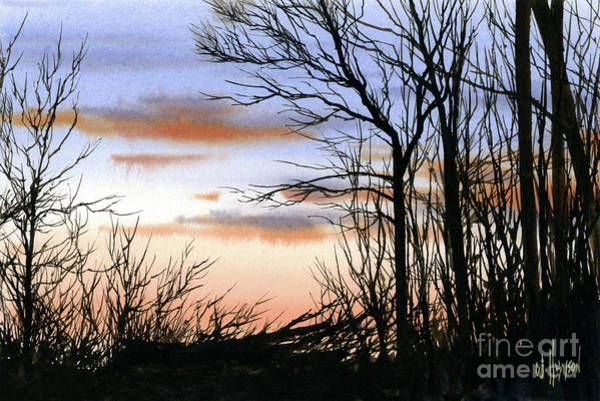 Wall Art - Painting - Forest Sunset by James Williamson