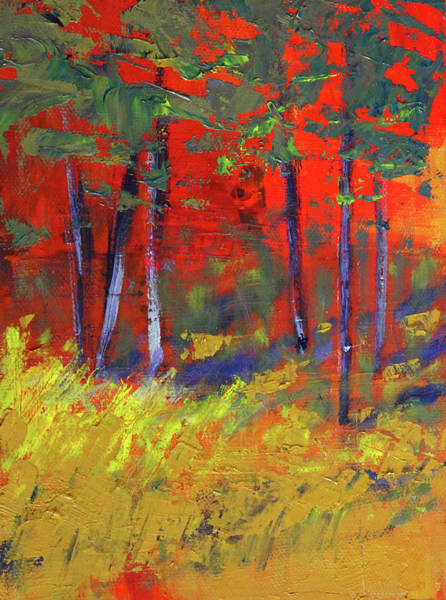 Wall Art - Painting - Forest Sunset by Nancy Merkle