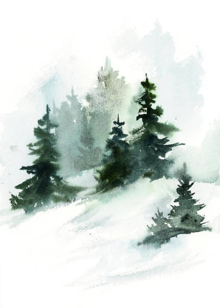 Wall Art - Painting - Forest Through The Trees by Sophia Rodionov