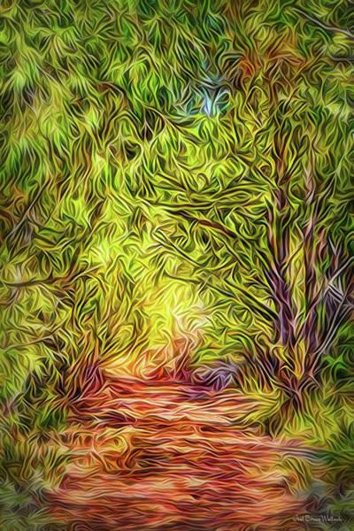 Digital Art - Forest Trail Journey by Joel Bruce Wallach