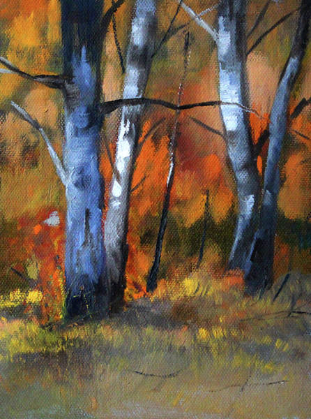 Wall Art - Painting - Forest Trees 2 by Nancy Merkle