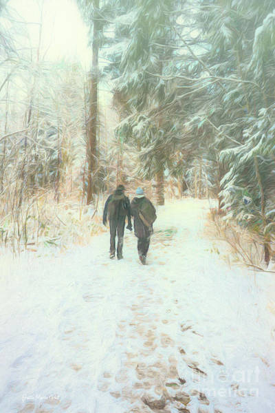 Photograph - Forest Walk In Winter by Jutta Maria Pusl