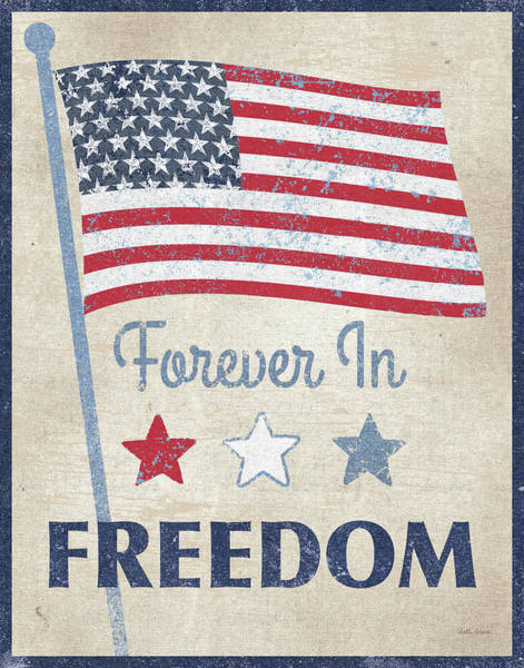 Wall Art - Painting - Forever In Freedom Dark by Beth Grove