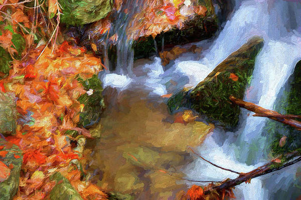 Wall Art - Painting - Forgotten Cascades Ap by Dan Carmichael