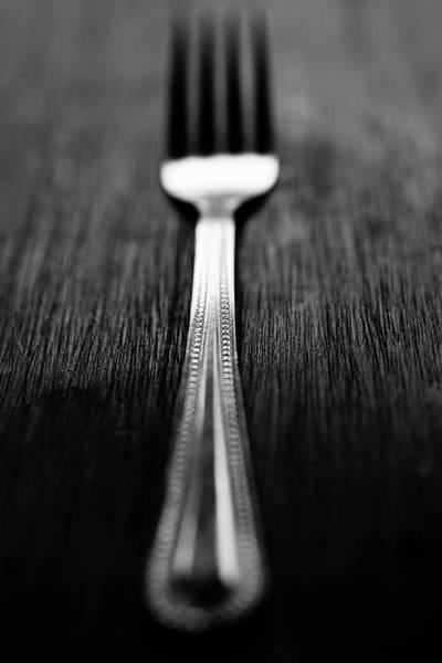 Silverware Photograph - Fork by Mmeemil