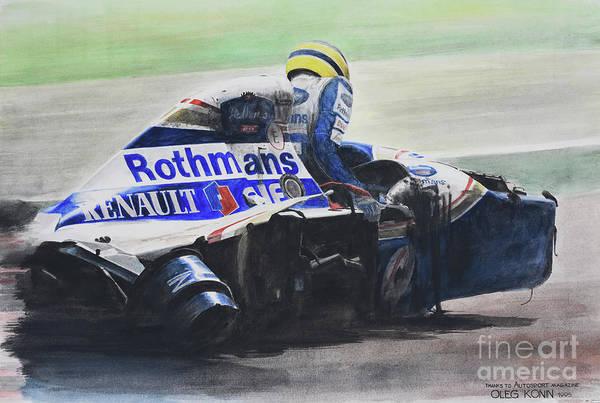 Motorsports Wall Art - Painting - Formula Alone by Oleg Konin
