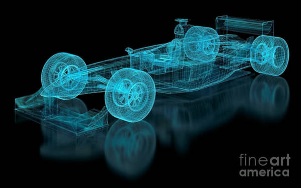 Wall Art - Digital Art - Formula One Mesh. Part Of A Series by Nuno Andre