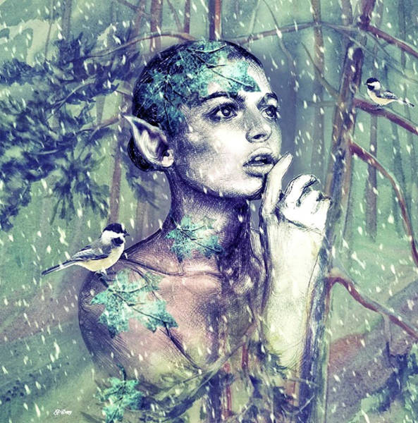 Botany Mixed Media - Forrest Elf 009 by G Berry