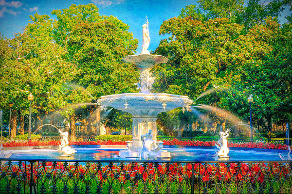 Wall Art - Photograph - Forsyth Fountain Grunge by Dan Sproul