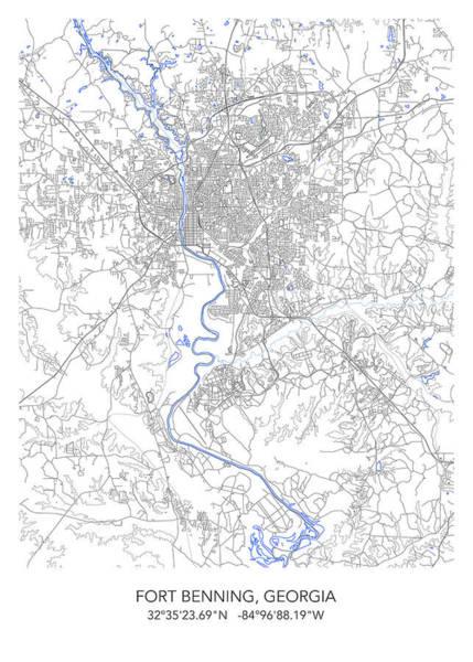 Map Of Georgia Fort Benning.Fort Benning Prints Fine Art America