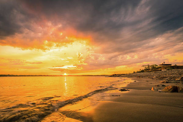 Photograph - Fort Foster Sunset Watchers Club by Jeff Sinon