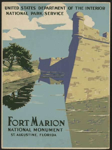 Wall Art - Painting - Fort Marion National Monument, St. Augustine, Florida by Celestial Images