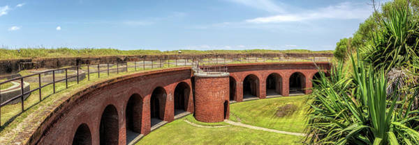 Photograph - Fort Massachusetts Interior Panorama by Susan Rissi Tregoning