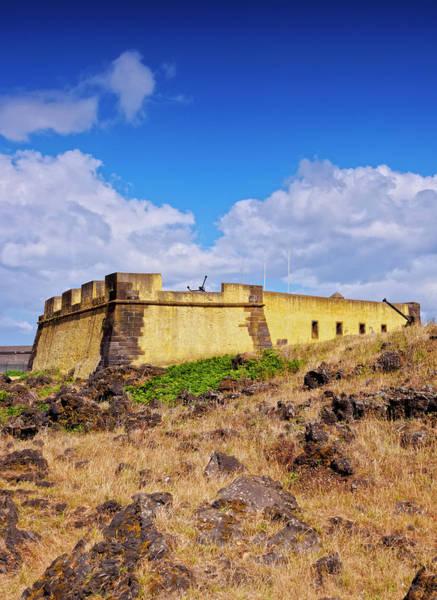 Wall Art - Photograph - Fort Of Santa Catarina Praia Da Vitoria Terceira Island Azores Portugal by imageBROKER - Karol Kozlowski