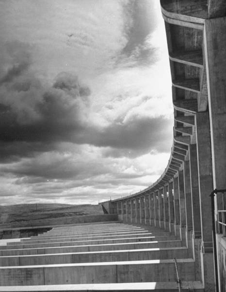 Wall Art - Photograph - Fort Peck Dam In The Missouri Valley by Hans Wild