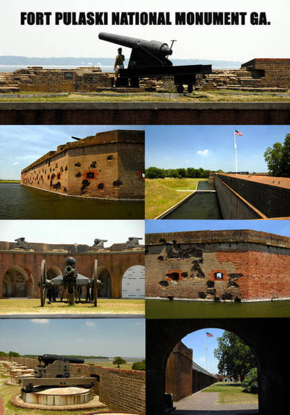 Wall Art - Photograph - Fort Pulaski National Monument Poster A by David Lee Thompson