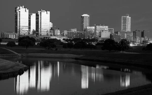 Photograph - Fort Worth Monochrome Skyline 061419 by Rospotte Photography