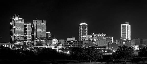 Photograph - Fort Worth Pano Monochrome 061519 by Rospotte Photography