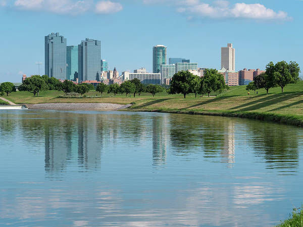 Photograph - Fort Worth Skyline 61819 by Rospotte Photography