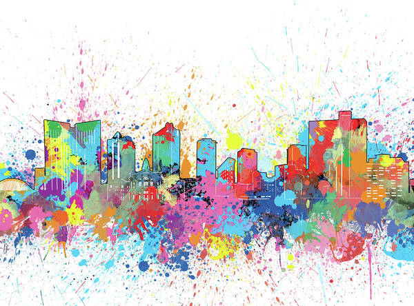 Fort Worth Digital Art - Fort Worth Skyline Artistic by Bekim M