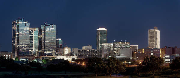 Photograph - Fort Worth Skyline Pano 061619 by Rospotte Photography