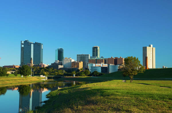 Fort Worth Photograph - Fort Worth Skyline, River, And Park by Davel5957