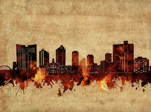 Fort Worth Digital Art - Fort Worth Skyline Vintage by Bekim M