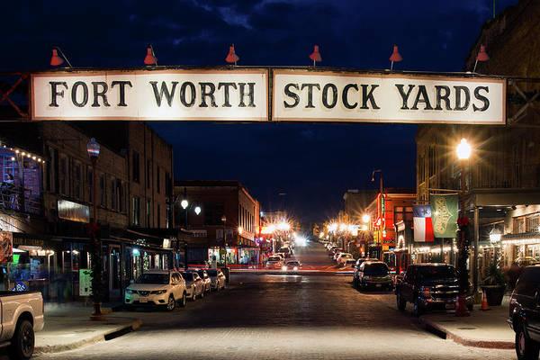 Fort Worth Stock Yards 112318 Art Print