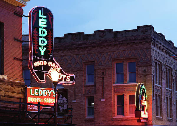 Photograph - Fort Worth Stockyards Leddy's Boots 0419 by Rospotte Photography