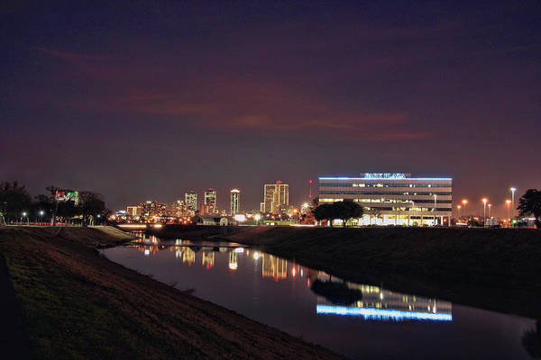Trinity Photograph - Fort Worth Texas Skyline And Trinity by Terry L Mccormick (russellville Ar Usa)