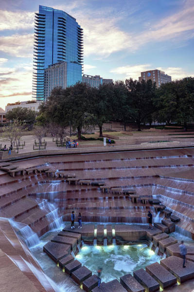 Photograph - Fort Worth Water Gardens 032019 by Rospotte Photography