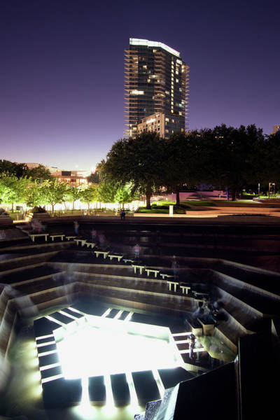 Photograph - Fort Worth Water Gardens 092718 by Rospotte Photography