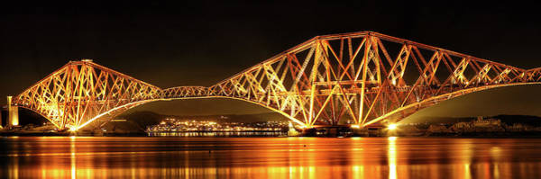 Photograph - Forth Railway Bridge - Night by Grant Glendinning