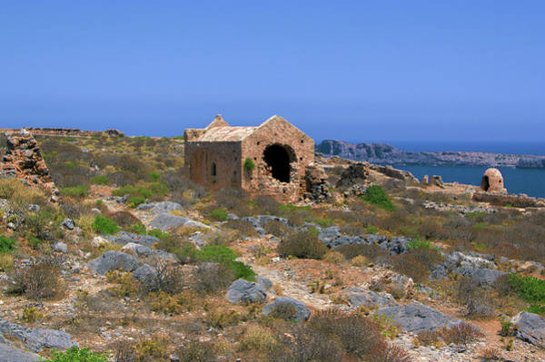 Photograph - Fortress Chapel On Imeri Gramvousa by Sun Travels