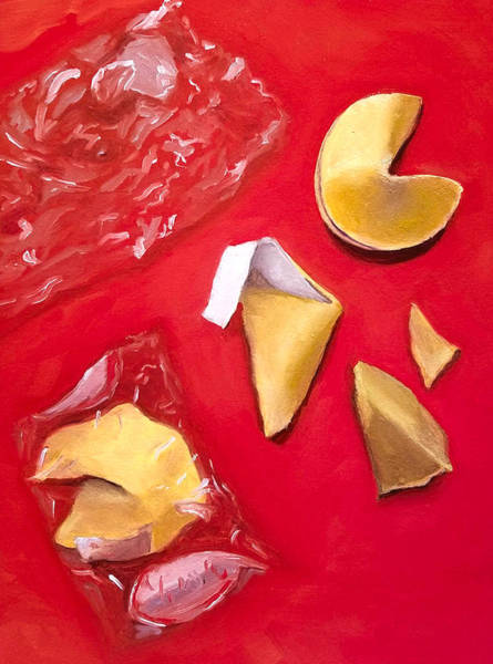 Wall Art - Painting - Fortune Cookies by Karyn Robinson