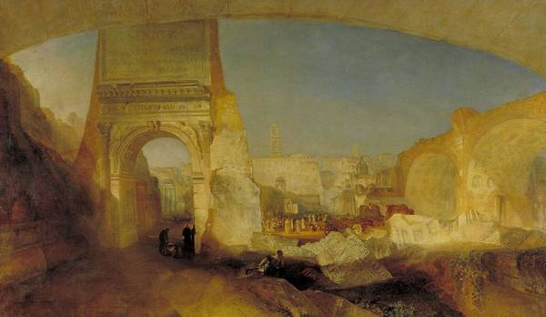 Wall Art - Painting - Forum Romanum  For Mr Soanes Museum  by Joseph Mallord William Turner