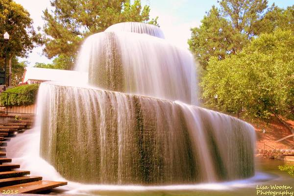 Photograph - Fountain At Finlay Park Sc by Lisa Wooten