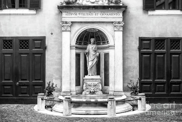 Photograph - Fountain At Palazzo Ferrajoli In Rome by John Rizzuto