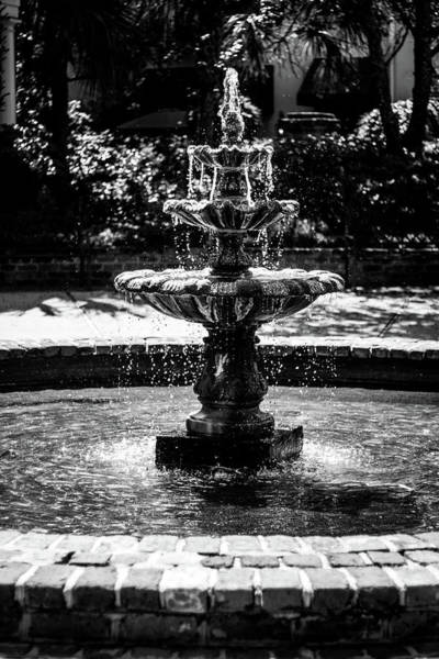 Photograph - Fountain B W by Susie Weaver