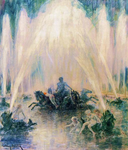 Wall Art - Painting - Fountain - Digital Remastered Edition by Louis Icart