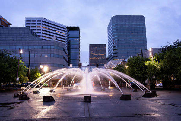 Photograph - Fountain Light by Steven Clark