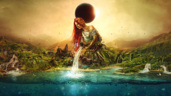 Surreal Landscape Wall Art - Digital Art - Fountain Of Eternity by Mario Sanchez Nevado