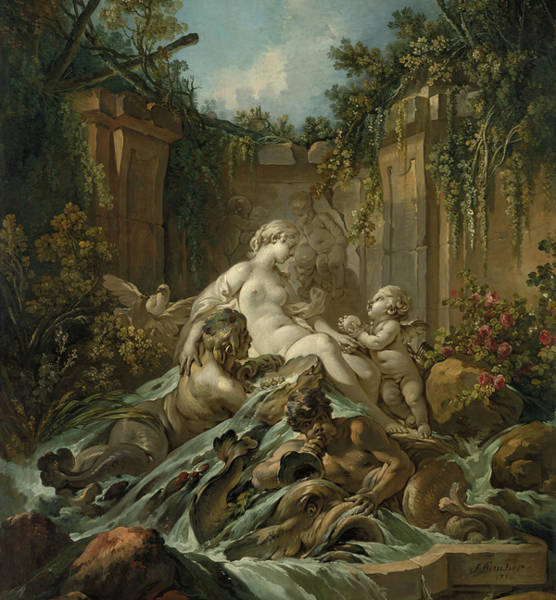 Francois Boucher Painting - Fountain Of Venus, 1756 by Francois Boucher