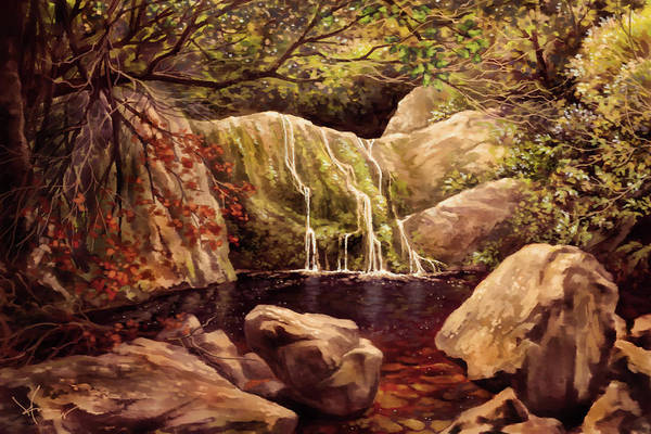 Wall Art - Painting - Fountain Of Youth by Hans Neuhart