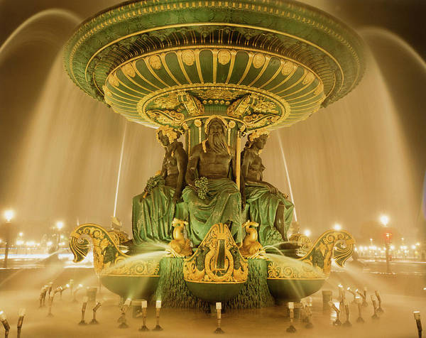Photograph - Fountain With Sculptures by Silvia Otte