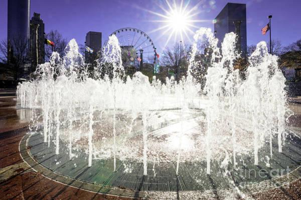 Photograph - Fountains At Centennial Olympic Park - Atlanta Ga by Sanjeev Singhal