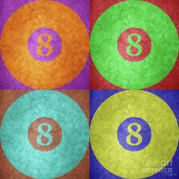 Digital Art - Four 8 Balls by Walter Neal