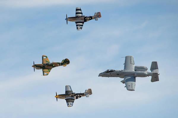 Photograph - Four Aircraft Heritage Flight by Dan McManus