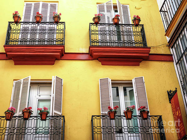 Photograph - Four Balconies In Seville by John Rizzuto